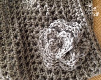 Gray Hat and Fingerless Gloves-Gray-Crocheted Hat and Glove Set-Slouchy Hat Fingerless Gloves-Teacher Gift-