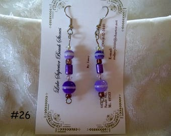Clearance Sale:  Dangle Earrings Your Choice, Five Different Pairs on Each Listing E26-30