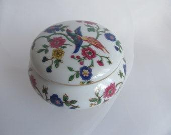 Porcelain powder box, vintage china treasure box, ring box, vintage  jewelry box ring boxes, gifts for Mother day