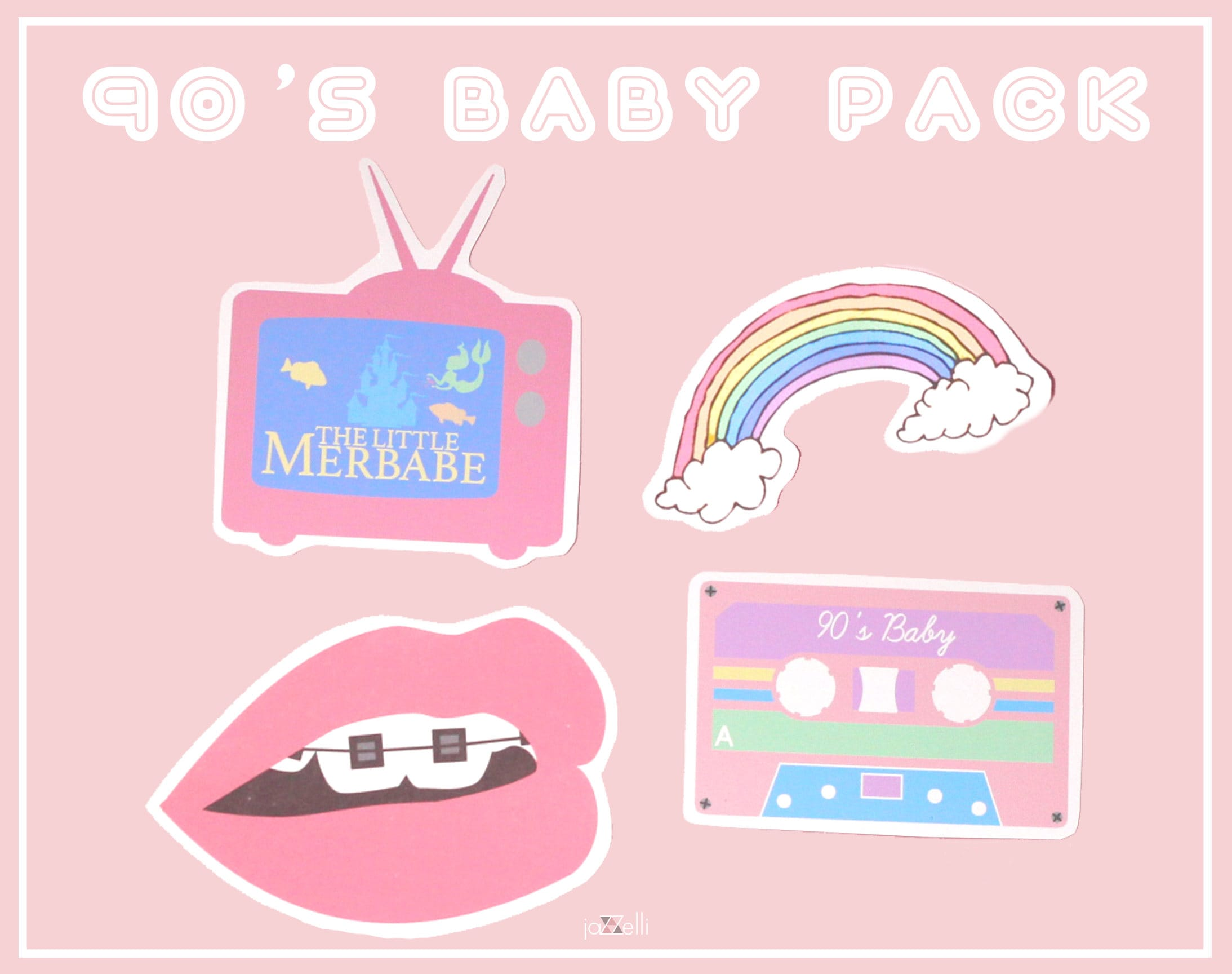 Name Stickers For Walls 90 S Baby Sticker Pack Cute Stickers Tumblr Stickers