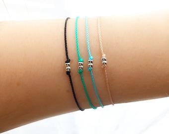 Friendship Bracelet - Bestie Bracelet - Bridesmaid Gift - Best Friend Bracelet - Gift for Her - Minimalist Jewelry - Gift Women - Nylon Silk