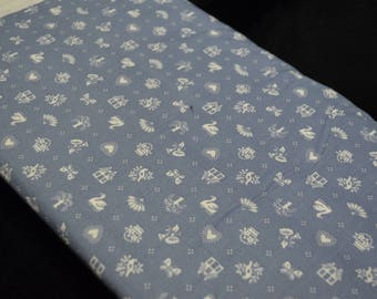 Vintage Blue Country Fabric