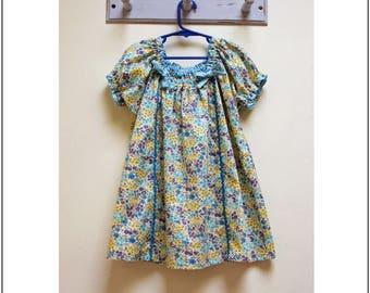 Easy girls dress pdf sewing pattern Sweet Pea, baby/ toddler/ girls dress sewing pattern, children's sewing pattern sizes 1 to 10 years