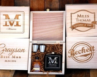 Personalized Flask Best Friend Gift Best Man Gift Idea Asking Groomsmen Box Bridesmaid Gift Groomsmen Gift Box Groom to Be Best Man Proposal
