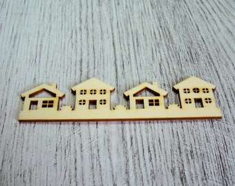 Little house 1080 a cut out of wood for your creation