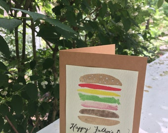 Watercolor Father's Day card - handmade
