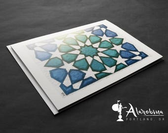 Greeting Cards - Set of 10 Cards - Geometry Watercolor Painting Greeting Card Set