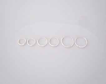 8mm, 10mm or 12mm laser cut sterling silver sleepers hoops, kids, girls earrings