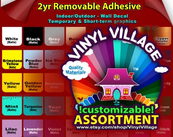 """4 sample 3""""x6""""   Oracal 631  Adhesive Backed Vinyl for all Craft & Sign Cutters  Indoor Matte"""