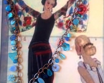 Vintage Treasure Necklace (Blue Supper Club)