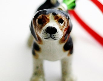 Small Beagle Christmas Ornament, Dog Ornament, Puppy Christmas Ornament, Handmade Tree Ornament,  Animal Pet Ornament Hendywood