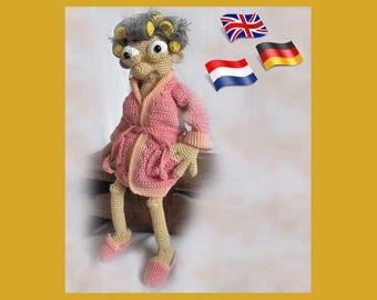 Golden Girl Granny, Amigurumi doll crochet pattern, crocheted dolls pattern, amigurumi PDF pattern, Instant download