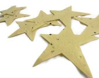 Yellow Seed Paper Star Favors - 50 count - 3 inch