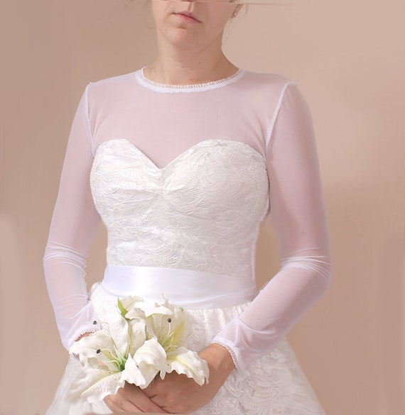 133583a15de Simple bridal top  stretchy tulle topper  wedding wrap with