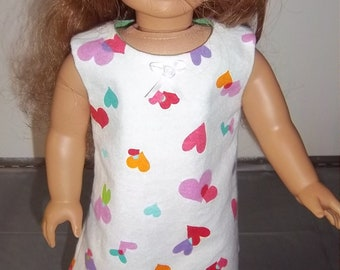 18 Inch Doll Nightgown for Summery weather, adjustable for most 18 inch soft bodied dolls such as American Girl