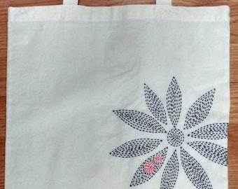 Modern Sashiko Embroidery Tote Bag Kit