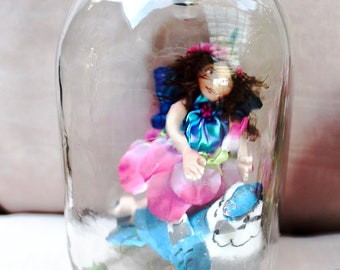 "Hand Crafted Fairy Jar - ""Pixie"""