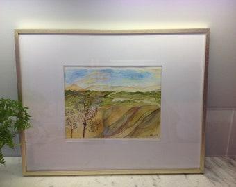 Original watercolor landscape