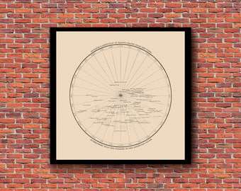 New York City - The Center of the World (Restored Vintage Map)