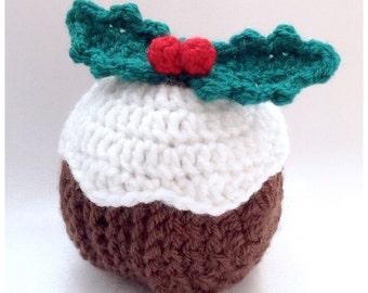 Christmas Pudding Coaster Set - Crochet PDF Pattern