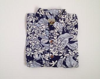 hawaiian shirt vintage 80s button up shirt oversized floral shirt 80s rayon shirt short sleeve 40s 1940s