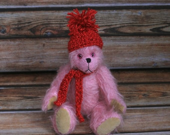 "Camellia 8"" OOAK mohair artist bear"