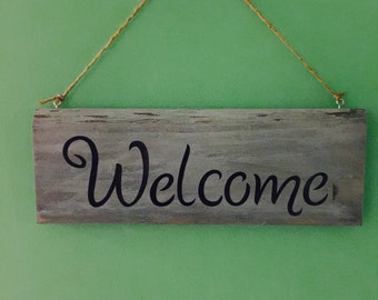Reclaimed Wood Sign, Decorative Welcome sign, Barn wood Welcome sign, Rustic Sign, Sign for Home, Welcome Sign