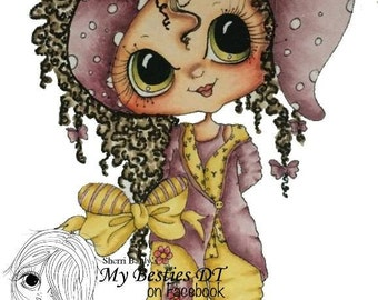 INSTANT DOWNLOAD  Digital Digi Stamps Big Eye Big Head Dolls Scan0005 Big Eyed Bestie By Sherri Baldy