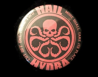Button Hail Hydra Marvel Avengers Captain America Winter Soldier Agents SHIELD!