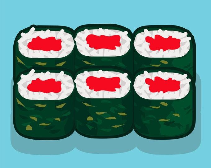 Sushi clip art, sushi menu art, royalty free clip art, INSTANT DOWNLOAD