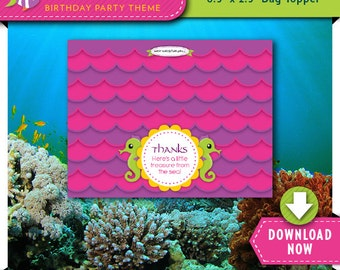 Under The Sea Treat Bag Topper | Printable Candy Bag Toppers | Labels for Birthday Party Favor Bags | Instant Download