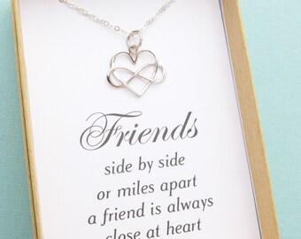 Best Friend Gift, Best Friend Necklace, Best Friend Jewelry, Infinity Heart Necklace, Friendship Necklace, Infinity Heart Charm Pendant