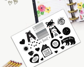 Mother's Day Theme One Day Small Planner Sticker Set, All Happy Planner Stickers, Stickers, Printed, Cut, Functional Sticker, Scandinavian