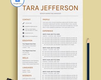 Google Docs Resume, Google Docs Resume Template Professional, Creative Google Docs Resume Template, Professional Resume Template Google Docs