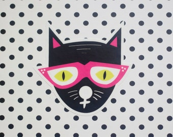Cool Cat Vinyl Sticker