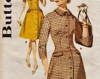 Butterick 2562 / Vintage 1960s Sewing Pattern / Dress / Size 16 Bust 36