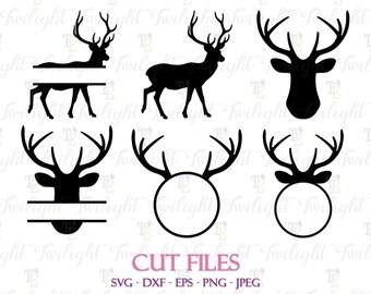 Deer Cut Files, Deer SVG Cut Files, Deer DXF Cut Files, Deer Eps / Png / Jpeg Files 0060