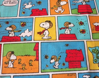Snoopy Red Baron Fabric Dog House Rare HTF Popular BTFQ