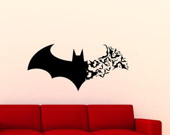Great Batman Wall Decal Batman Logo Bat Artwork Stencil Comic Book Vinyl Sticker  Poster Boy Nursery Wall