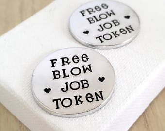 Boyfriend Gift, Free Blow Job, Valentines Day Idea, Love Tokens, Naughty Gift, Gifts for Groom, Husband, Sexy Game Toys, Adult Rude Present