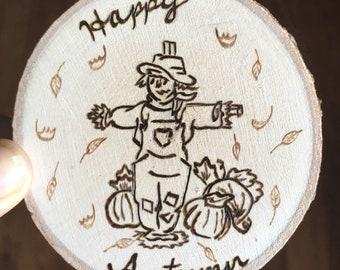 Autumn Scarecrow Magnet