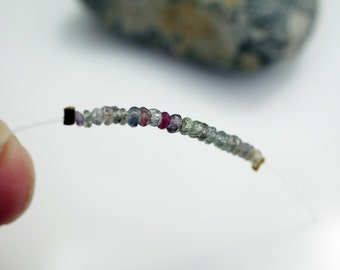 Sapphire Beads Gemstone Sapphires Multi Color Sapphire Beads 2.5 to 3mm Sapphire Beads (about 20 beads) #H