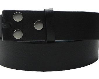 12-Pack Black Leather Belt Straps