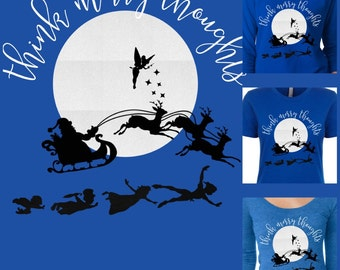 Think merry thoughts neverland christmas shirt