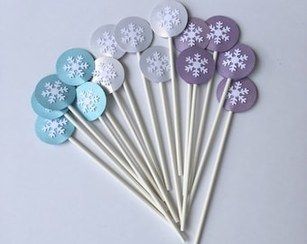 frozen theme party cakepop sticks, snowflake cake pop sticks, Marshmallow Sticks, Cute Sticks, Cute cake pop sticks, princess party supplies
