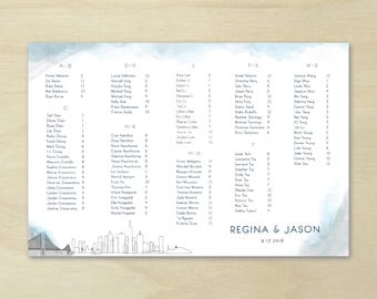Seating Chart, Custom Seating Chart, Wedding Seating Chart