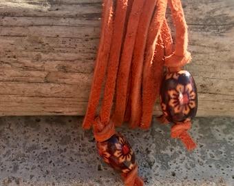 Leather Wrap Necklace Bracelet