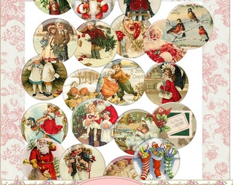 Instant Download Christmas Circles Decals Images Embelishments