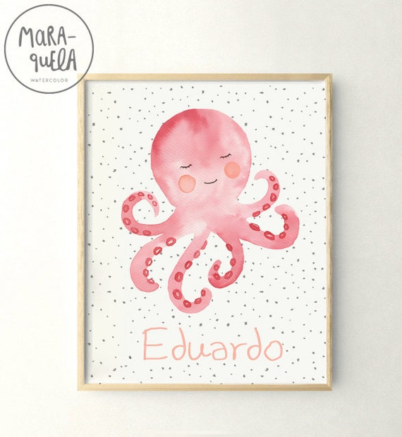 Lámina Pulpo / Watercolor Octopus print