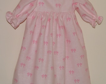 """18 Inch Doll Gown, Gown for Dolls, Doll Clothes, Doll Clothing, Pink Gown for 18"""" Dolls"""